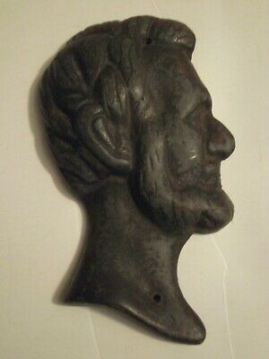 Abraham Lincoln SOLID Steel Casting Antique Bust Relief