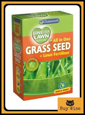 Grass Seed Lawn Seeds Premium Thick Fast Growing Repair Tough Hard Wearing 250g