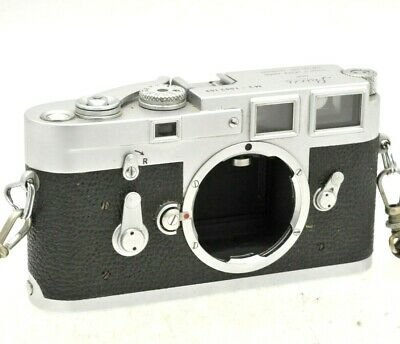 Leitz Leica M3  35mm film rangefinder camera body, single stroke - In case