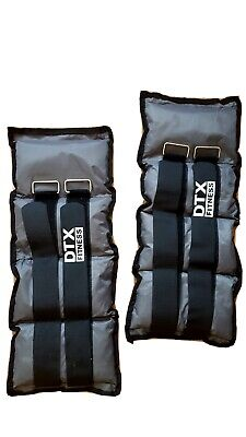 2x 3kg Ankle Weights Adjustable Ankle/Wrist Leg Weights Exercise Weights.
