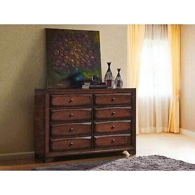 Oakland 139 Antique Oak Finish Wood 6 Drawers Dresser Oak 6-drawer