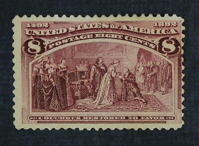 CKStamps: US Stamps Collection Scott#236 8c Columbian Unused NG