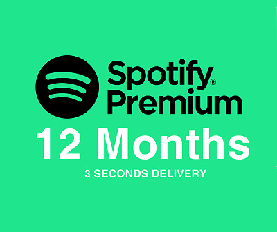 Spotify Premium For 1 Year / 12 Month 🎧Works Worldwide🎧
