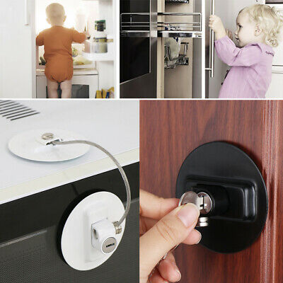 Window Baby Safety Lock Finger Protector Door Stopper Cabinet Lock With-Key