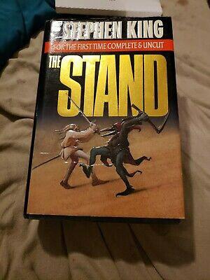 Stephen King The Stand Complete and Uncut Hardcover HC Dust Jacket DJ 1990