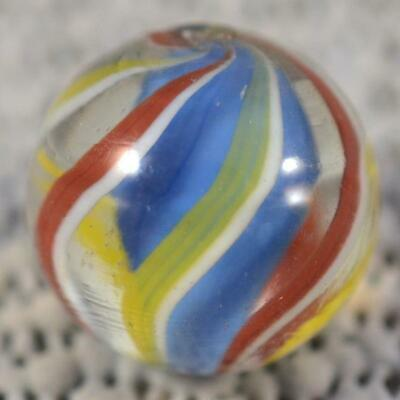 "Antique German Blue Solid Core Swirl Marble > 11/16"" (.693"") Mint"