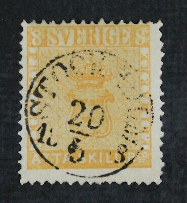 CKStamps: Sweden Stamps Collection Scott#4 Used Signed
