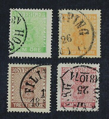 CKStamps: Sweden Stamps Collection Scott#6 10 11 12 Used