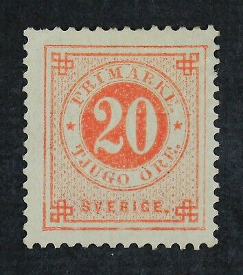 CKStamps: Sweden Stamps Collection Scott#46 Mint H OG Tiny Thin