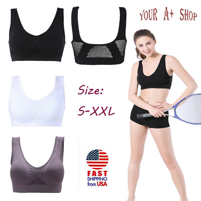 Padded Sports Bra High Impact Seamless Bra Top Active Wear Workout Yoga Exercise