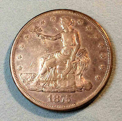 1875 cc Trade Dollar Sharp Nice