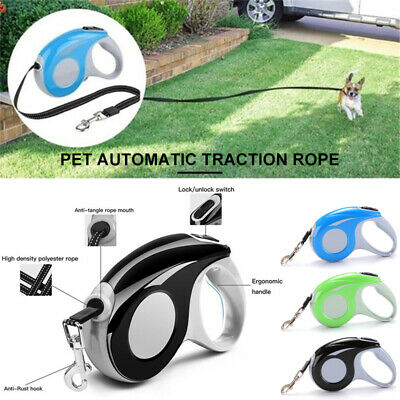 16FT Reflective Automatic Retractable Dog Leash Pet Collar Walk Climbing Rope