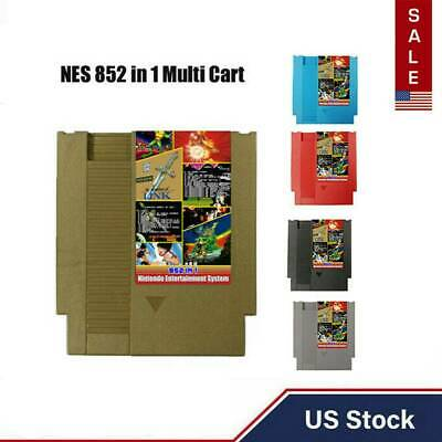 Duo Card Games 852 in 1 Card For Nintendo Multi Cart Game Cartridge NES Console