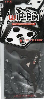 Wif-Fix - Black Label - Car Air Freshener - Wild Cherry         *New And Sealed*