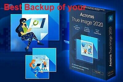 The Best Computer Backup Software Acronis True Image 2020 Windows +3 PC + Serial