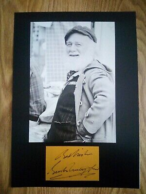 ONLY FOOLS AND HORSE Signed  MOUNTED Photo...BIG A4 size !