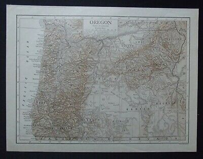 Vintage Map: Oregon, United States, by Emery Walker, 1926, Bi-colour