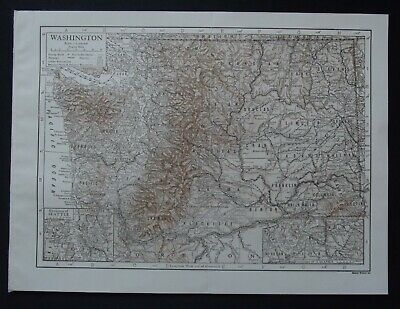 Vintage Map: Washington, United States, by Emery Walker, 1926, Bi-colour
