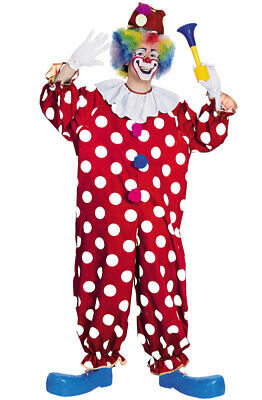 Funny Dotted Circus Clown Adult Halloween Costume