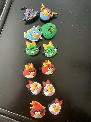12 Pc Lot Angry Birds Shoe / Croc Charms-new