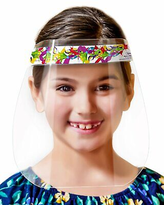 6-Pack Made In USA Kids Children Safety Face Shields Full Face Protection