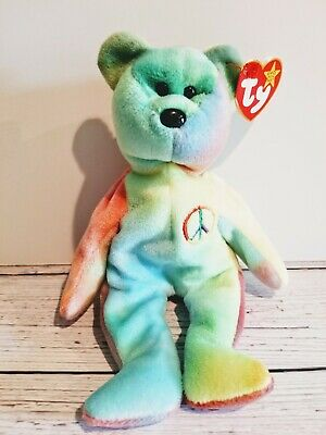 Ty Original Beanie Baby Peace The Bear