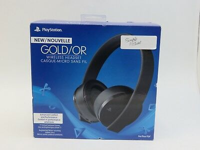 Sony PlayStation 4 PS4 Gold Wireless Stereo Headset (3002498) (Full Set)