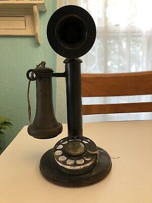 Antique candlestick Telephone Early 1900's