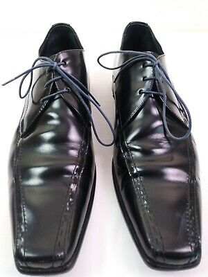 Men's Paul Smith Handcrafted Made In Italy Leather Shoes Size 7 Black