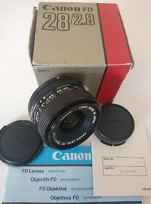 CANON FD 28MM F2.8 Wide angle lens *EXCELLENT CONDITION BOXED* A1 AE1 AE1P etc