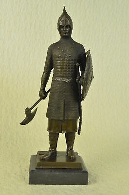 Hand Made Armor knight medieval sculpture bronze sculpture work of Art Decor