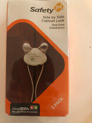 Safety 1st Side by Side Cabinet Lock Decor, 2-Pack New..!!