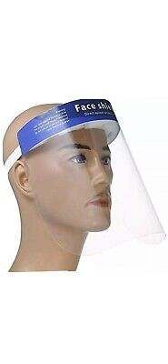 Safety Face Shield, 5 Pcs Reusable Adjustable Transparent Full Face