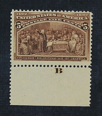 CKStamps: US Stamps Collection Scott#234 5c Columbian Mint VLH OG