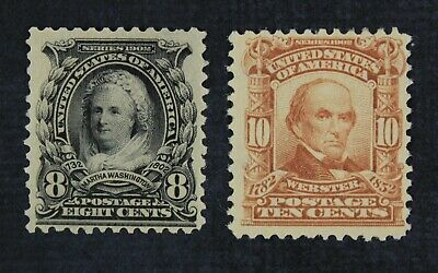 CKStamps: US Stamps Collection Scott#306 307 Mint H OG