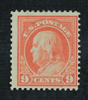 CKStamps: US Stamps Collection Scott#415 9c Franklin Mint H OG CV$52.50