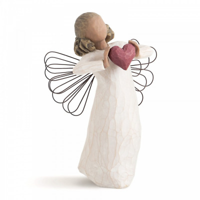 Willow Tree With Love 26182 Angel Red Heart Figure Figurine Gift New & Boxed