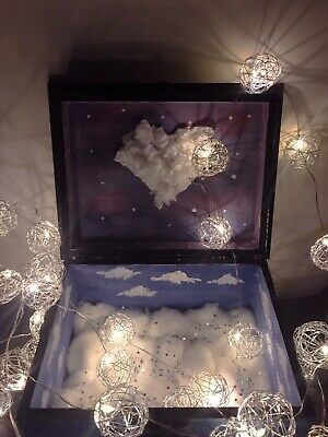 Handcrafted Cloud Theme Wooden Box (Jewelry Box)