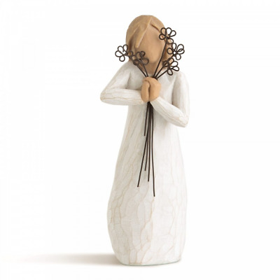 Willow Tree Friendship 26155 Girl Wire Flowers Figure Figurine Brand New & Boxed