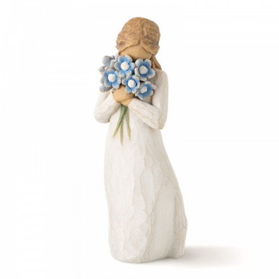 Willow Tree Forget-me-not 26454 Girl Flowers Figure Figurine Brand New & Boxed
