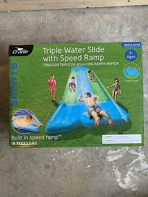triple water slide With Speed Ramp
