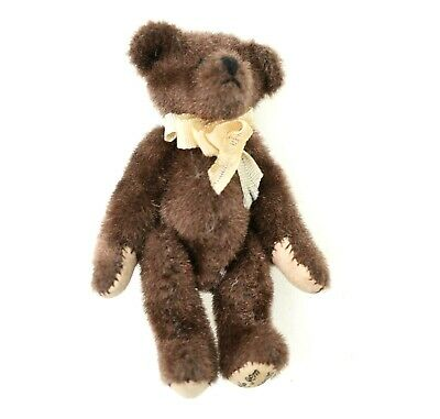 Little Gems Teddy Bear EXCELLENT Jointed W/ Neck Bow