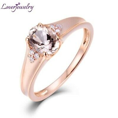 Solid Gold Ring With Morganite Gemstone