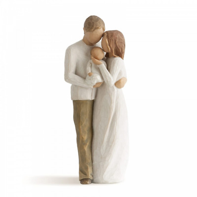 Willow Tree Our Gift 26181 Husband Wife Couple Baby Figure Figurine New Boxed