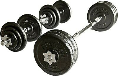 20Kg Adjustable Dumbbell and barbell weight set (cast iron) - BRAND NEW