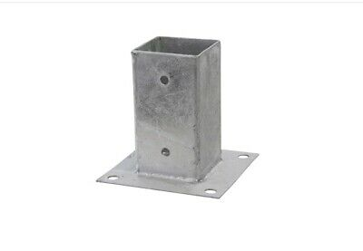 CIRCULAR BOLT DOWN Round Heavy Duty Galvanised Post Support Base Size 82-122mm
