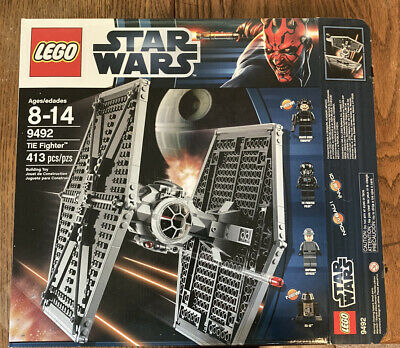 lego star wars 9492 Tie Fighter w// Box Missing Instructions Read Description