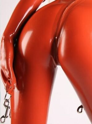 Latex Gummi Rubber Catsuit with Hoods D-ring Design Clubwear Play Customize .4mm