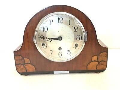 Westminster chimes mahogany cased mantle clock