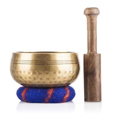 Tibetan Singing Bowl Set Meditation Sound Handcrafted Nepal Healing Mindfulness